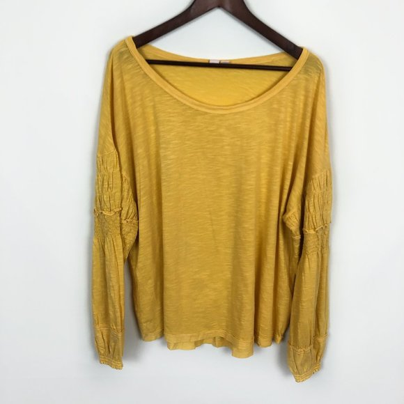 Melrose And Market women/'s Yellow Smocked top shirt 3x NWT Plus Size